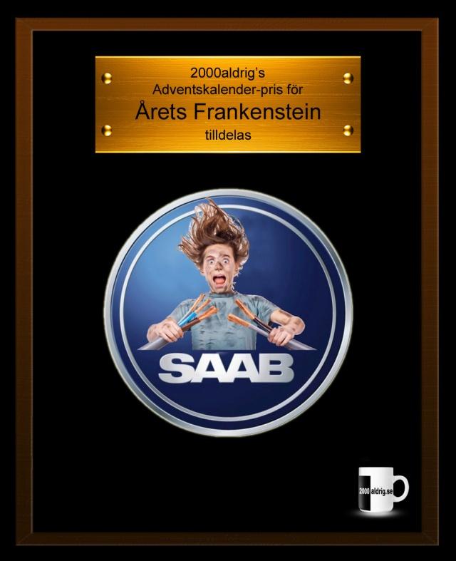 Lucka 2 Julkalender Adventskalender SAAB 2000aldrig satir humor