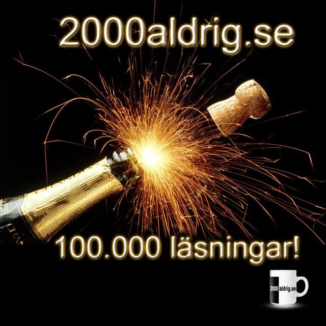 2000aldrig läsningar satir humor blogg satirblogg humorblogg jubileum champagne