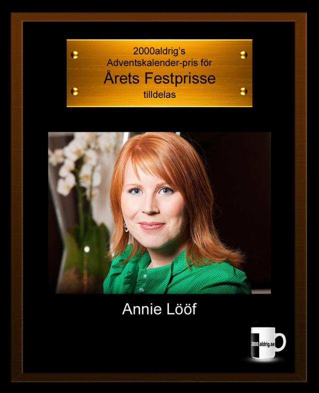 Annie Lööf Centerpartiet fest näringsdepartementet julkalender adventskalender 2000aldrig satir humor