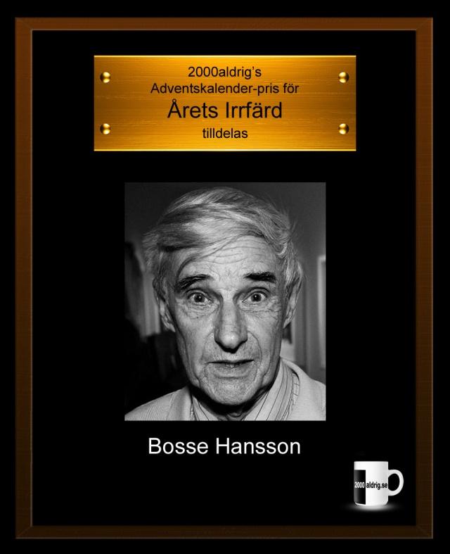 Bosse Hansson svarting guling viting radiosporten 2000aldrig satir humor