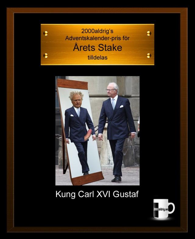 Carl XVI Gustaf kung stake 2000aldrig satir julkalender adventskalender