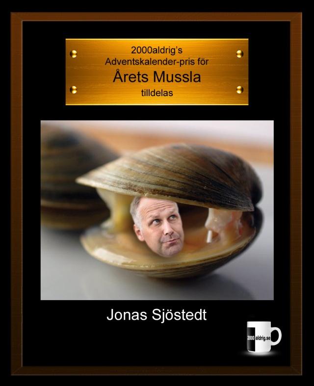 Julkalender adventskalender Jonas Sjöstedt Vänsterpartiet mussla 2000aldrig satir humor