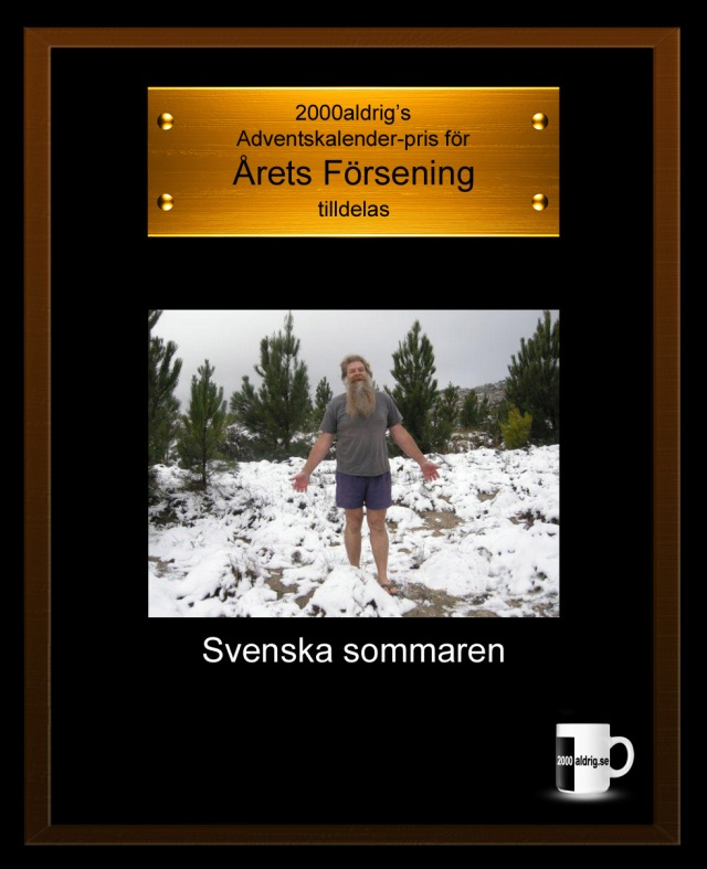 Julkalender adventskalender Sverige sommaren svensk sommar 2000aldrig satir försening