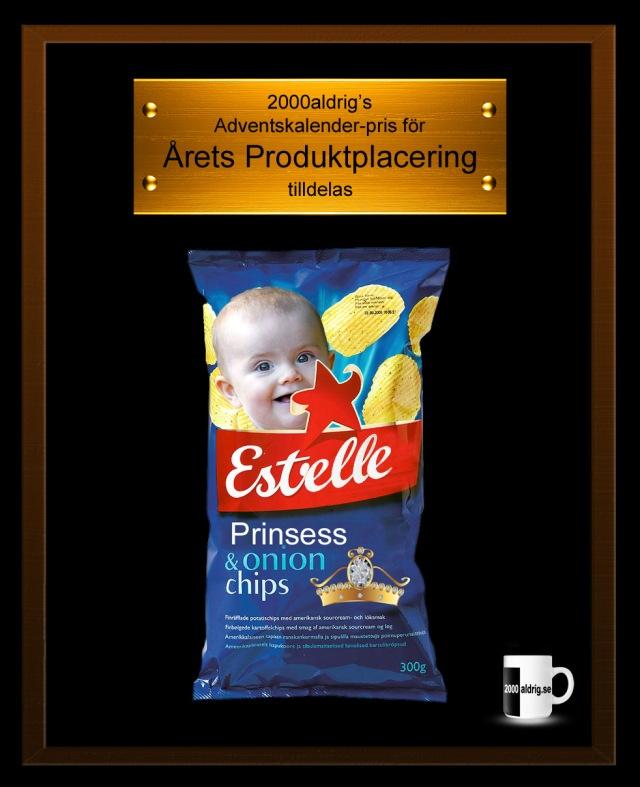Lucka 16 adventskalender julkalender Estelle Estrella produktplacering kungahuset 2000aldrig satir humor