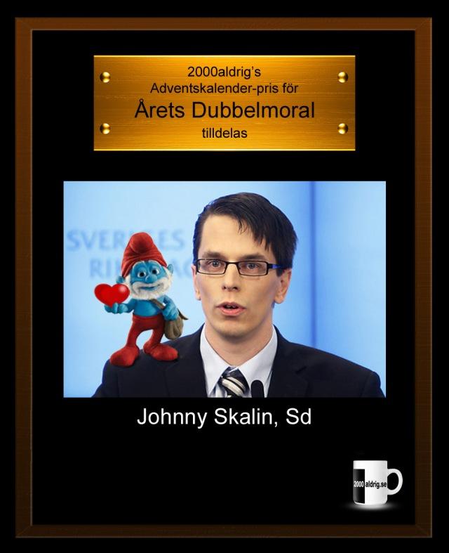 Lucka 18 adventskalender julkalender Johnny Skalin anhöriginvandring främlingsfientlighet Sverigedemokraterna satir humor 2000aldrig