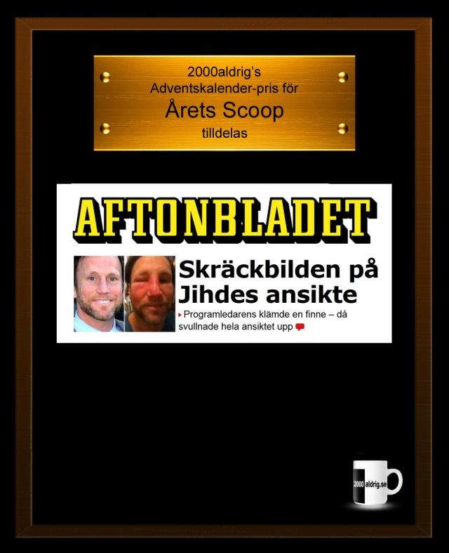 Lucka 19 julkalender adventskalender satir humor Aftonbladet scoop Peter Jihde 2000aldrig