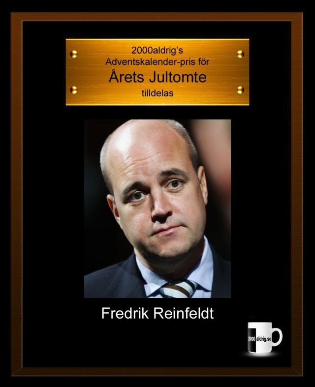 Lucka 24 julkalender adventskalenderFredrik Reinfeldt Carl Bildt jultomte tomte satir humor 2000aldrig sjukvårdsköer småföretagande sjukförsäkring konjunktur välfärd