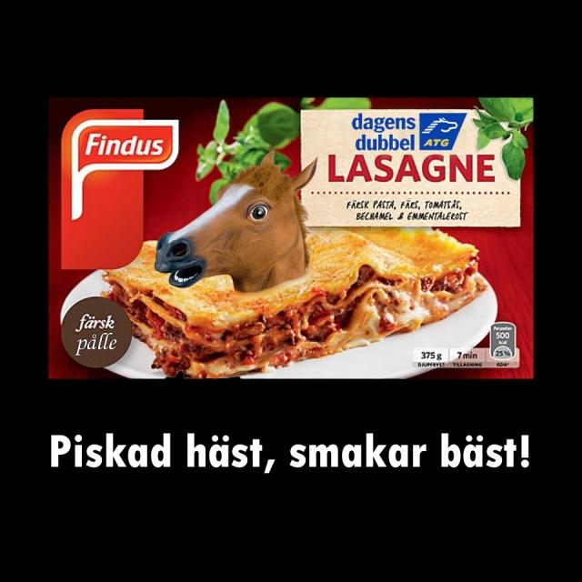Findus häst lasagne satir humor 2000aldrig
