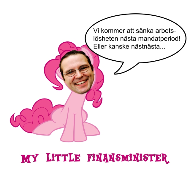 My Little Pony Anders Borg arbetslöshet mandatperiod Alliansen satir humor 2000aldrig