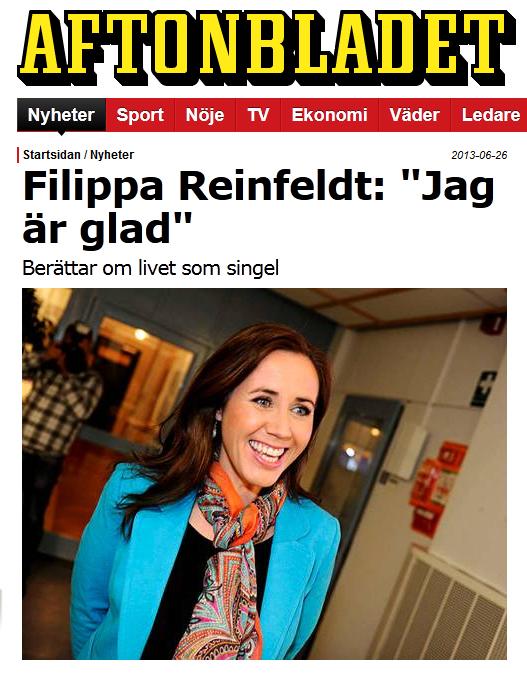 Filippa Reinfeldt är glad - Fredrik Reinfeldt satir humor 2000aldrig