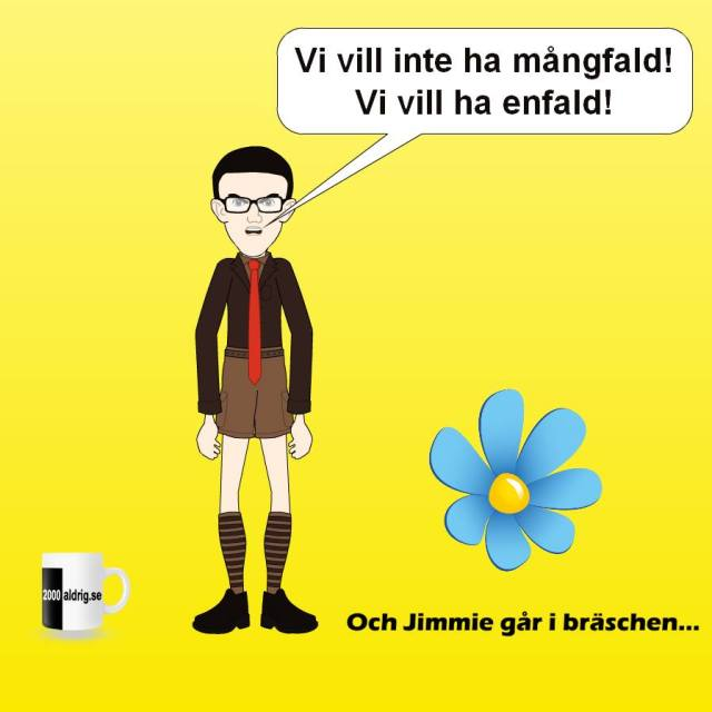 Jimmie Åkesson - Sverigedemokrat och enfaldig - 2000aldrig satir