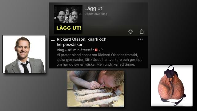 Rickard Olsson, knark, 2000aldrig, Lägg Ut, herpesväskor, pod, podcast, humor, satir